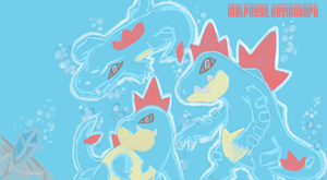 Totodile Evolutions by W0lfness