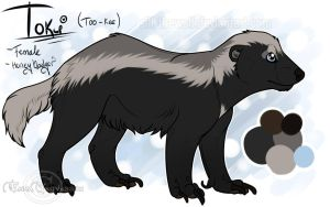 ~ Toki, the Honey Badger ~ by SillyTheWolf