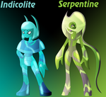 Indicolite and Serpentine by Keytee-chan