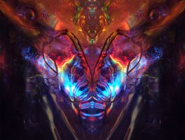 Portrait:  Satyrthoth, The Astrosabbatik Goat by deepvoidskitzoid