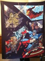 Avengers Blanket Commission by TheSpyWhoLuvedMe