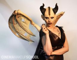 Horned Demoness by CinemaMakeupSchool