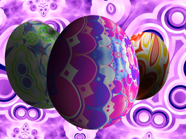 Psychedelic Easter Eggs by heavenriver