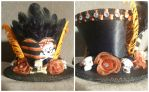 Skulls and Roses Mad Hatter Mini Hat Fascinator by AbsolutelyFascinated