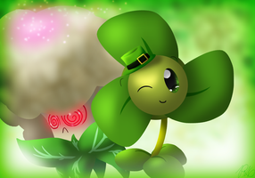 Blover and Caulipower (Happy St. Patricks Day) by PoppyWolfMoon