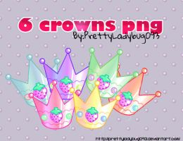 6 Crowns png by PrettyLadybug093