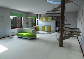 Living room. view 1 by Shh-GonnaDrawNow
