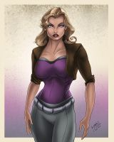 hunt pin up by KDart by k-d-art