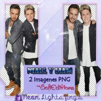 Niall y Liam -Neon Lights PNG'S by SoffMalik