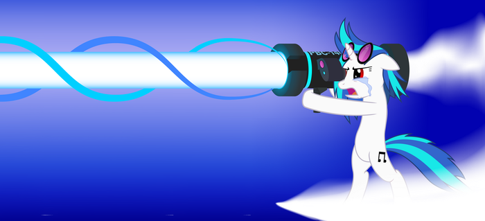 Vinyl Scratch Return Attack - White by SDC2012