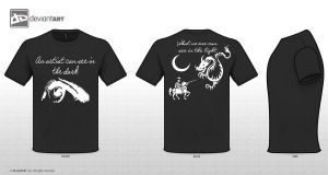 See In The Dark - T-Shirt Contest Design by ScaryStitches