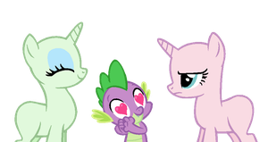 Base 'Oc and Spike loves you' by Chanour-bases