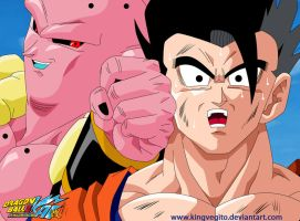 Super Buu Vs Gohan by kingvegito