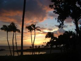 Sunset in Hawaii by lonewhiterose