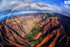 360 Kaua'i Rainbow by KasraRassouli