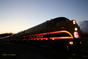 KCS 2 at Sunset in Noel MO by labrat-78