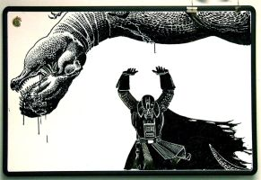 Vader vs. T-rex colt by Cheape