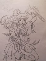 Sailor jupiter the Fighter by TheriaRose