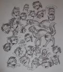 Some more Cricket Sketches by hakura-lives