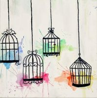 Caged Colours by DatteBagel