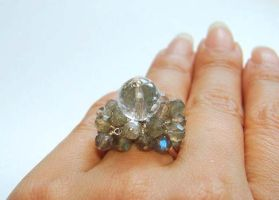 Labradorite cluster ring by CrysallisCreations