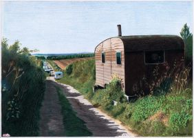 Bertie's caravan, Green Lane by NewAgeTraveller
