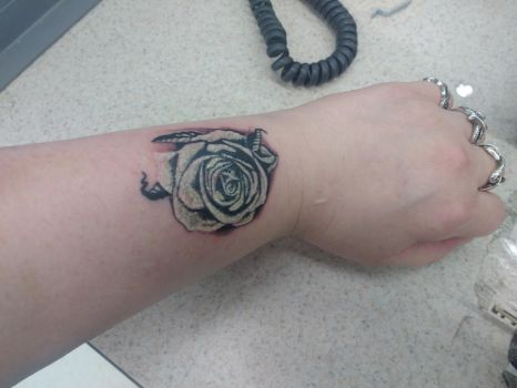 White Rose Tattoo by Wolfblood11