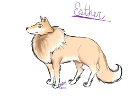 I'll Be a Wolf for You: Esther Dog by elleonXlife