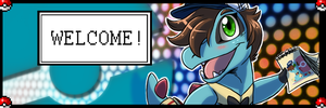 Cari the Totodile TWITTER Youtube HEADER by KasaraWolf