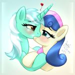 MLP FIM - Lyra And Sweetie Drops Kissing Live by Joakaha