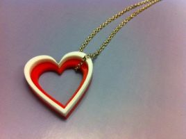 Valentines Day Heart Necklace by CMDCustom