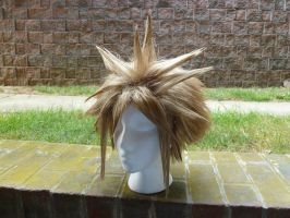 Cloud Strife Wig Commission 1 by AnalexBeetleBum