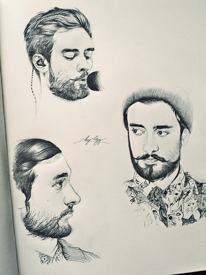 Sketches of Kyle by mrsxbenzedrine