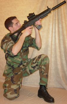Ryan Soldier Airsoft Aimed 2 by FantasyStock