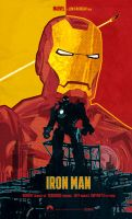 Iron Man (2008 film) poster art by le0arts