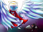 A fight between angels by zapdosrocks