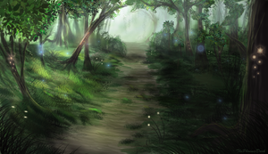 Elven Forest by JKRoots