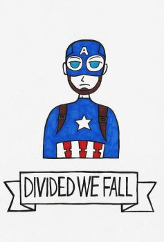 Divided We Fall: Captain America by michnguyenart
