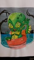 Cuteness of the Black Lagoon-Pinted sized monsters by Sew-What