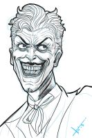 Joker morning sketch by victter-le-fou