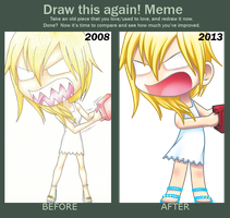 Draw This Again Meme (When Namine Snaps) by eclipsedsoul