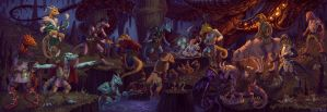 Fifteen Kobolds and a Lava Wyrm by dragonictoni