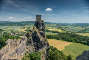 Czech paradise - castle in Bohemia by Rikitza