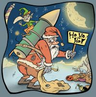 Rocket Santa by HammersonHoek