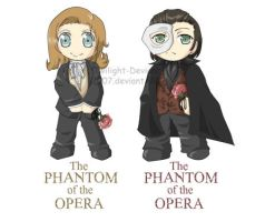 Phantom of the Opera--Chibis by Twilight-Deviant