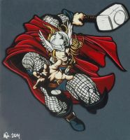 God of Thunder by loki-of-sassgard