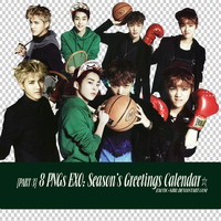 [PNGset14] EXO's 2014 official calendar - PART3 by exotic-siro