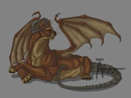Copper manticore_Female by Anisis