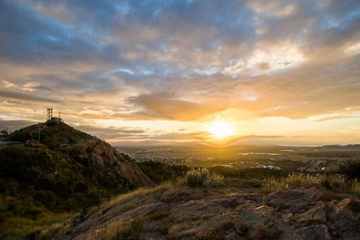 Castle Hill Sunset by neonlightedstreets