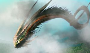 30min Spitpaint : Long tailed Creature by RustyPulley